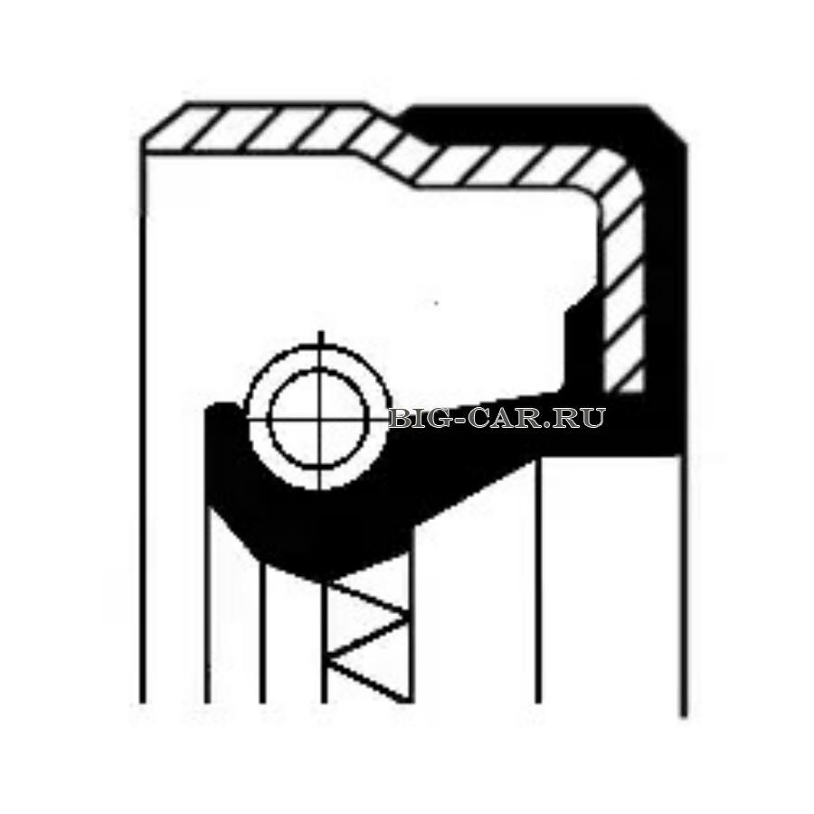 Сальник ступицы, 72x90x12/9.5, B1BADRWSF 72-90-12 NBR