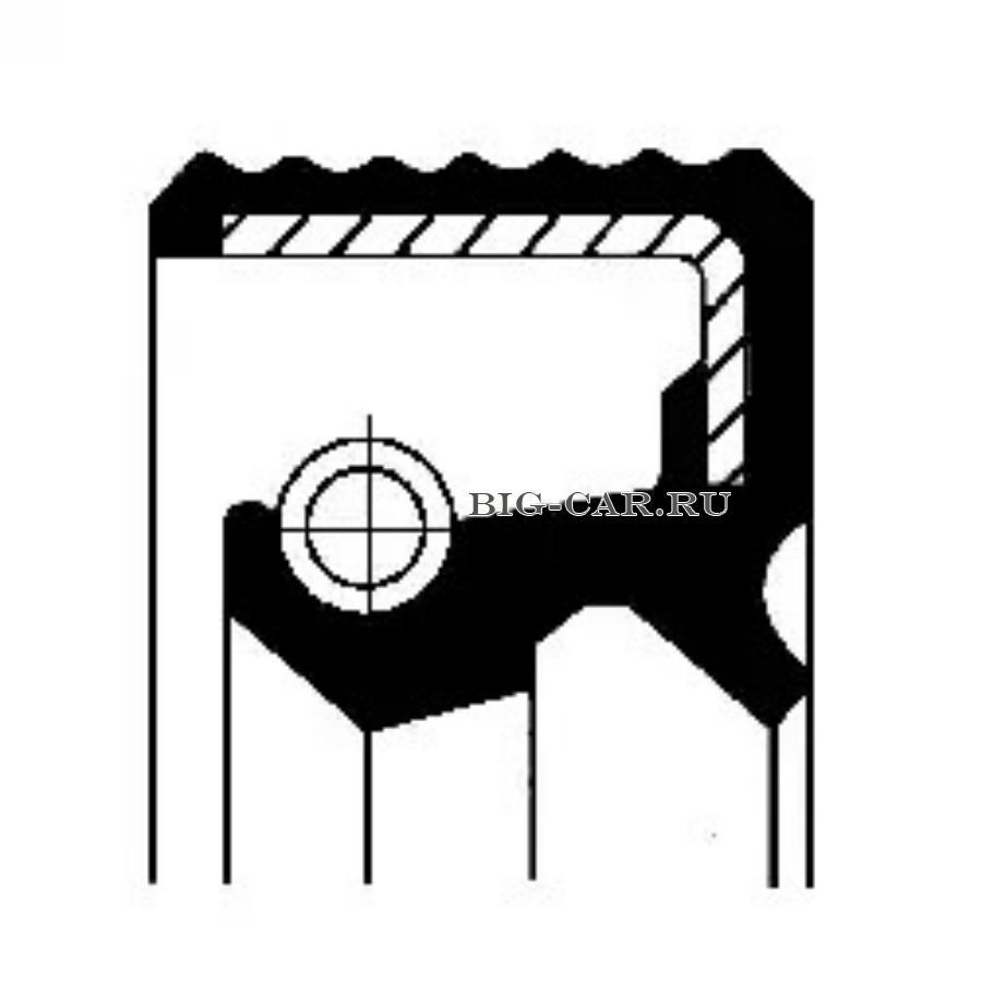 Уплотняющее кольцо, вспомогательный привод 52х72х10/8DAF, IVECO, MAN, RVI