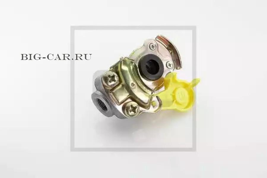 Головка соединительная без клапана желтая M16x1.5