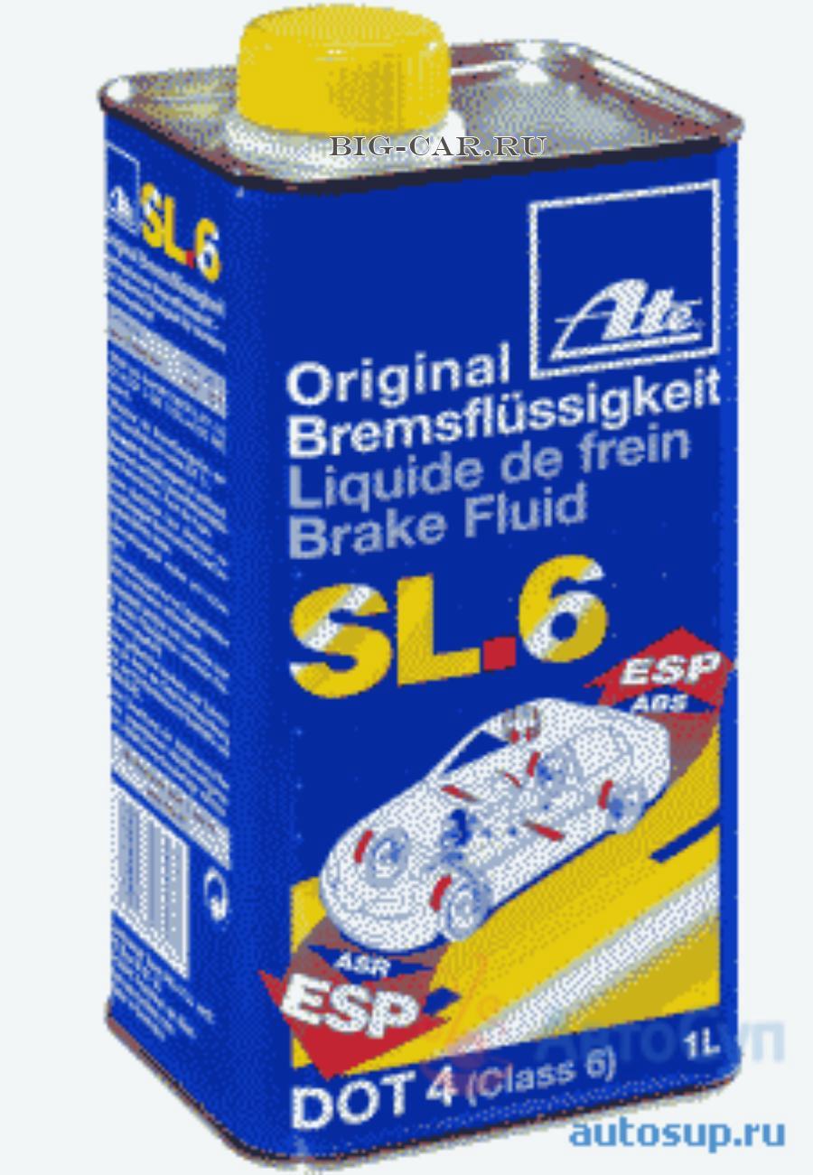 Тормозная жидкость DOT 4 SL.6 (Металл. банка) 1L