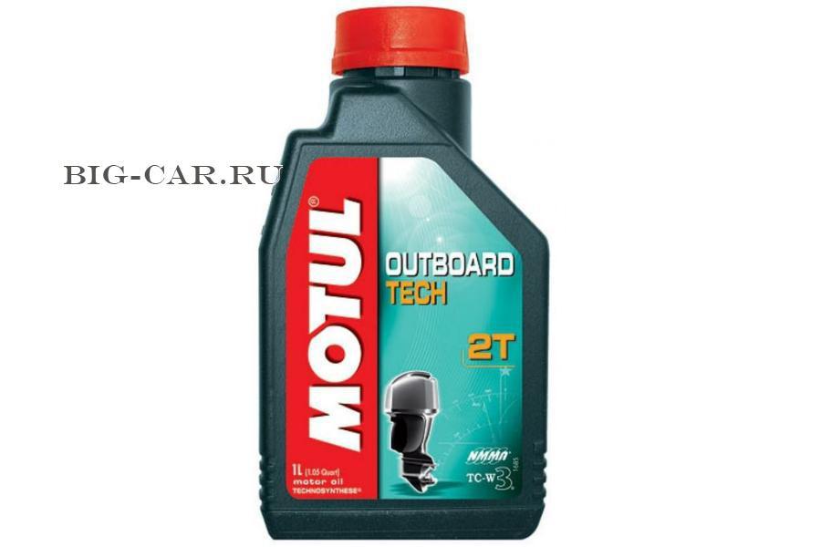 Масло моторное полусинтетическое Outboard TECH 2T, 1л