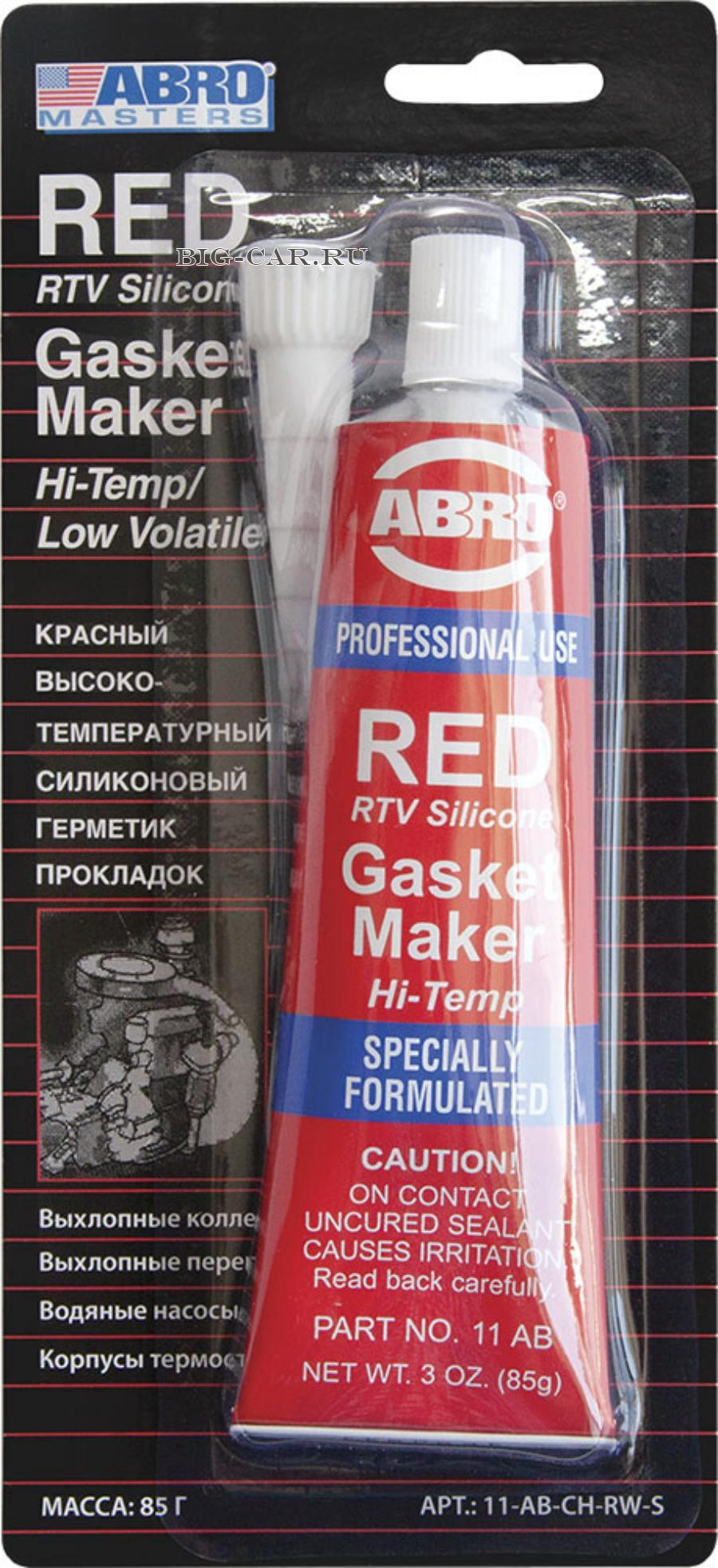 Герметик прокладок (красный) ABRO MASTERS 85 г