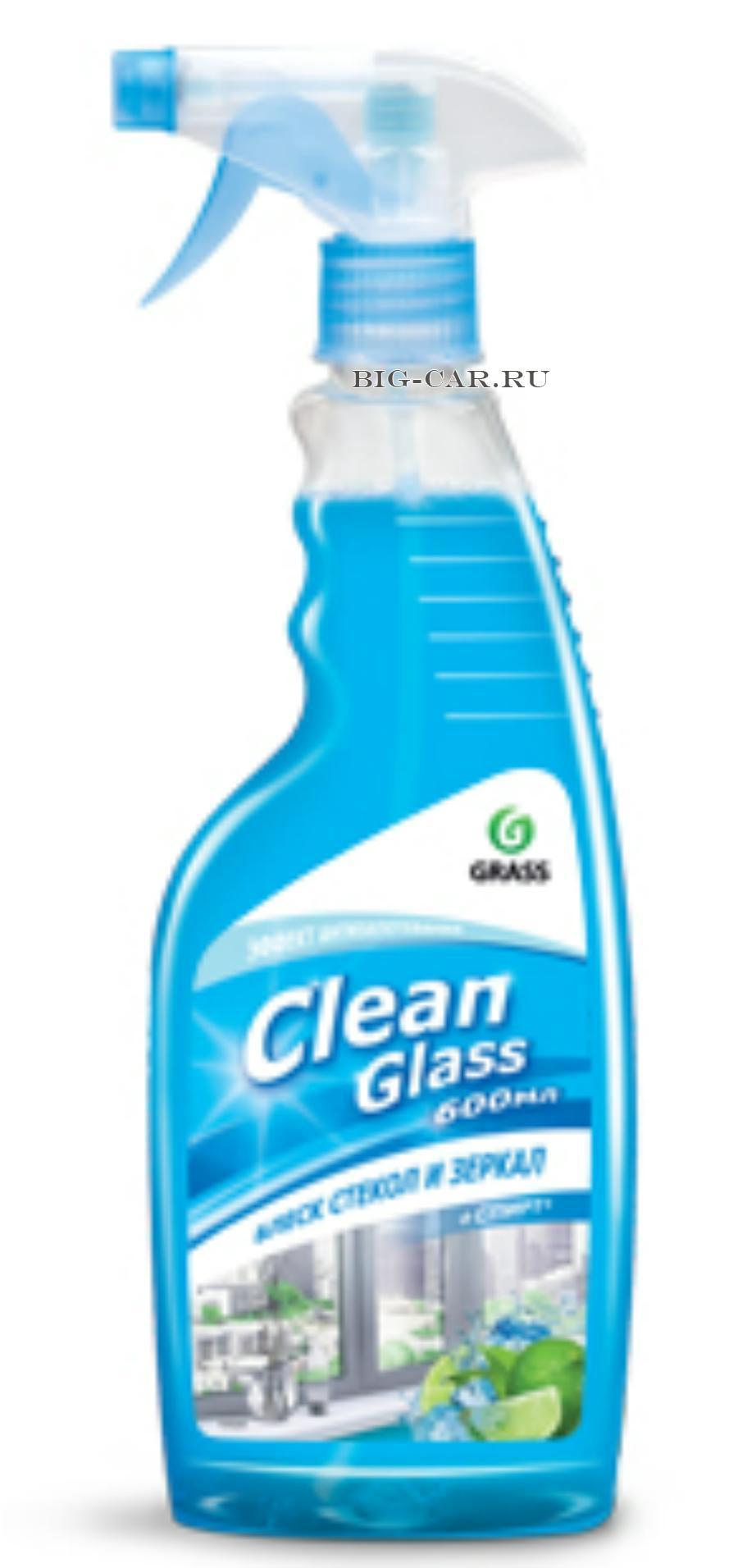 Clean Glass блеск стекол изеркал (голубая лагуна) 600мл