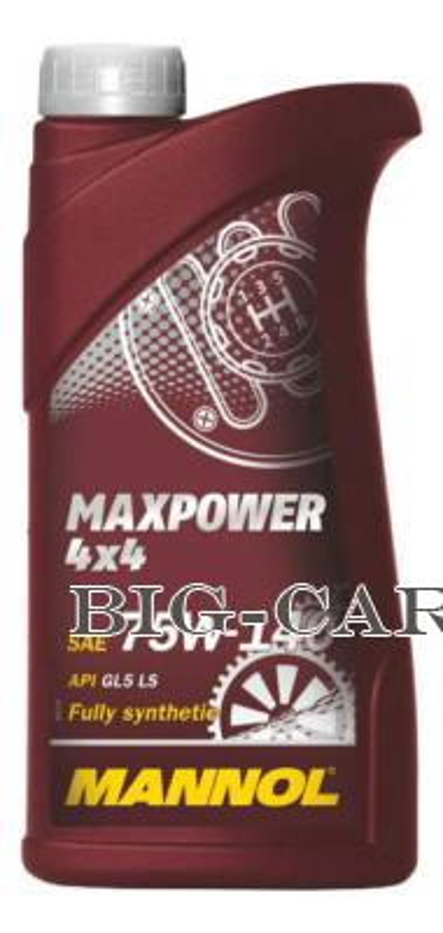 Масло трансмиссионное синтетическое MaxPower 4x4 75W-140, 1л