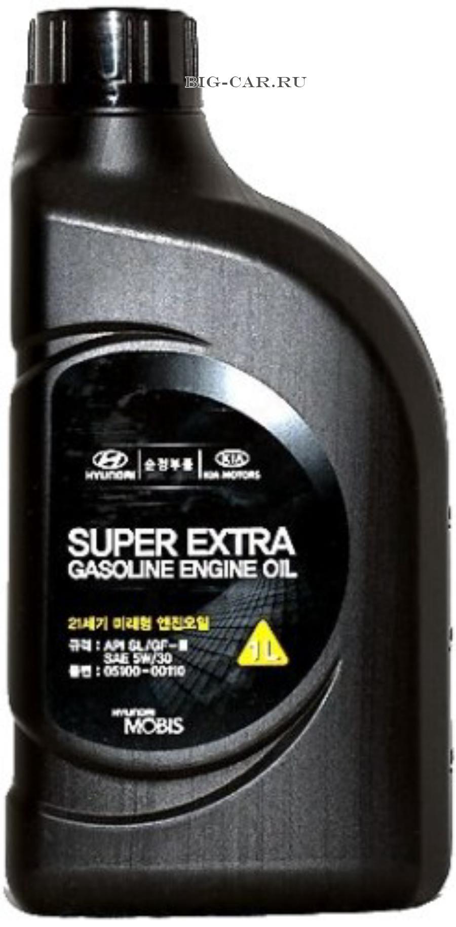 Масло моторное полусинтетическое Super Extra Gasoline 5W-30, 1л