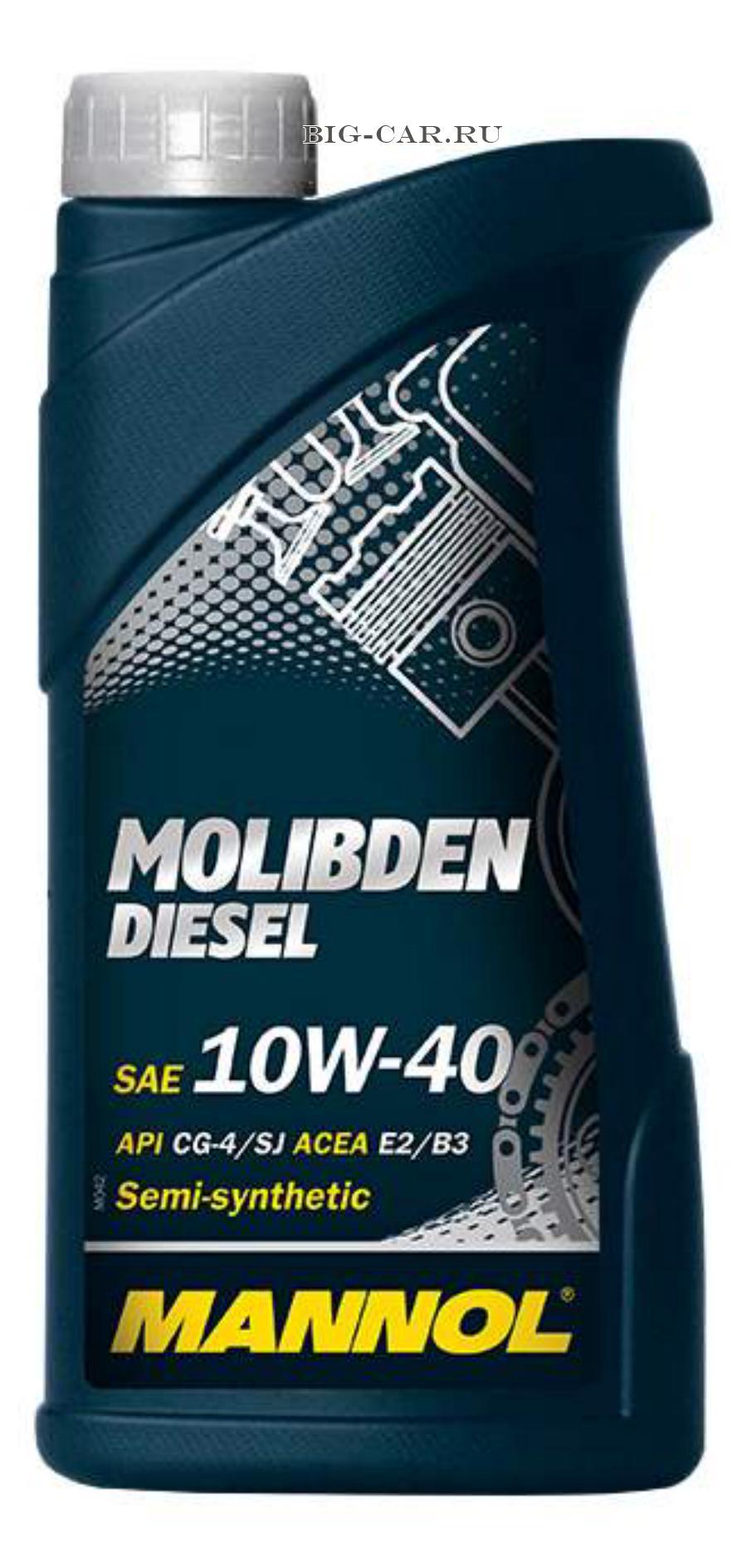 Масло моторное полусинтетическое MOLIBDEN DIESEL 10W-40, 1л