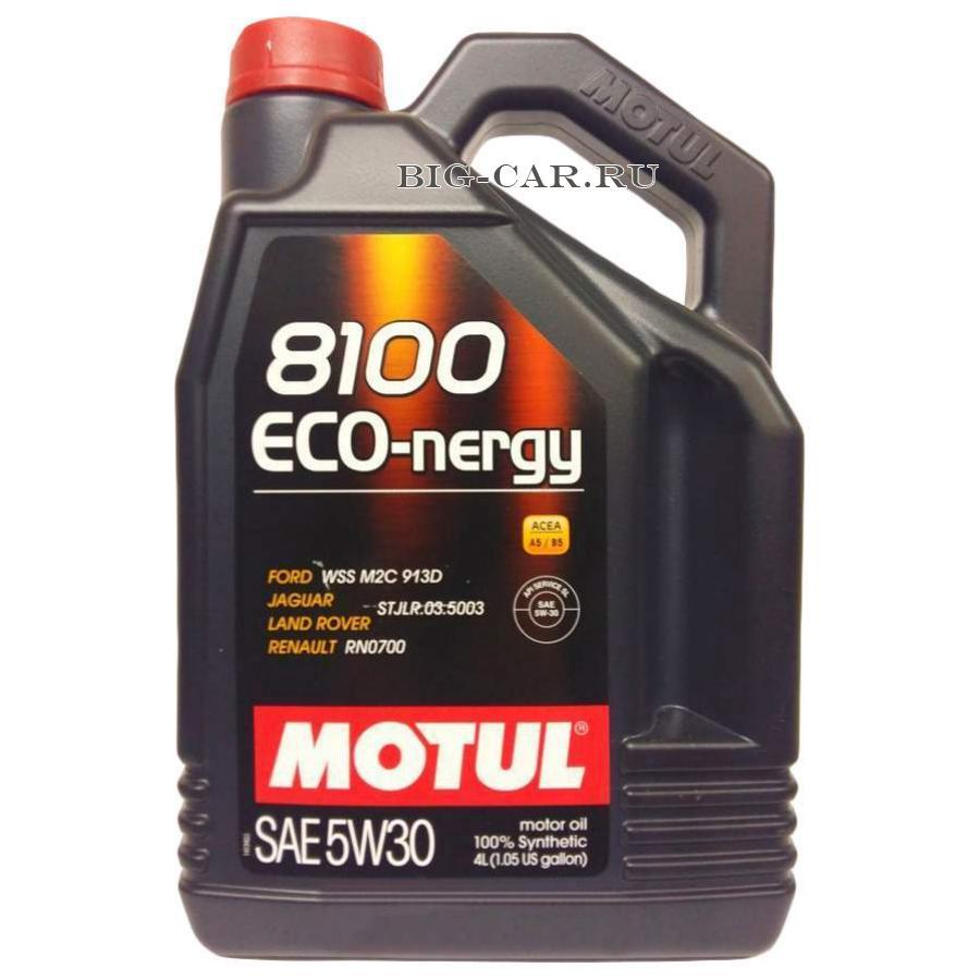 Масло моторное синтетическое 8100 ECO-NERGY 5W-30, 4л