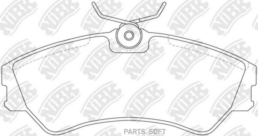 Передние тормозные колодки PN0266