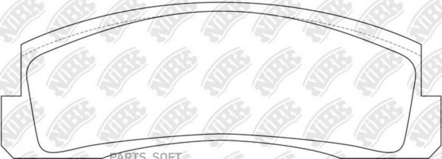 Передние тормозные колодки PN0230