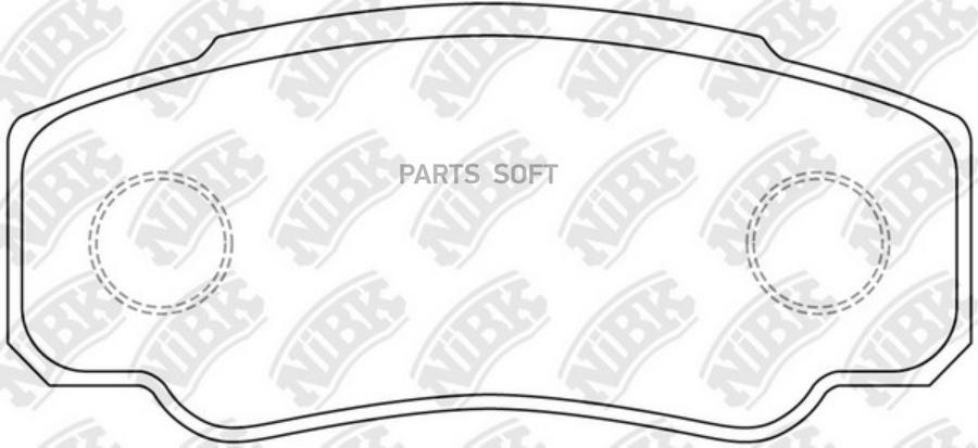 Задние тормозные колодки PN0331