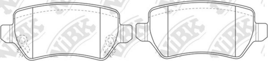 Задние тормозные колодки PN0329