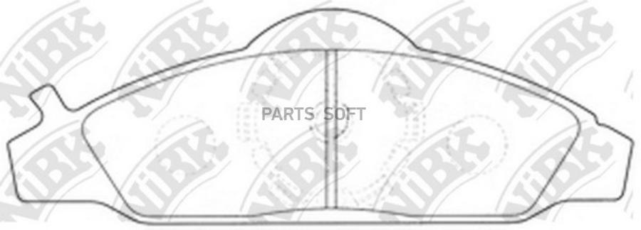 Передние тормозные колодки PN0145