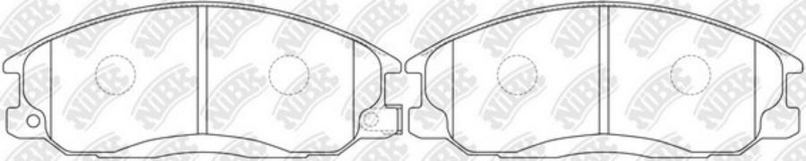 Передние тормозные колодки PN0103