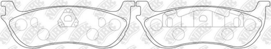 Задние тормозные колодки PN0080