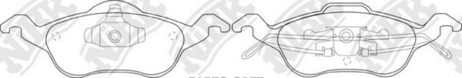 Передние тормозные колодки PN0119