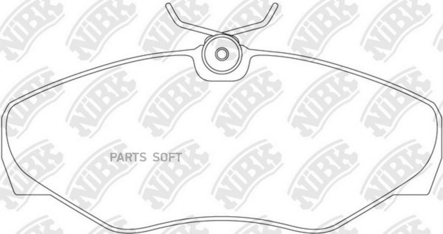 Передние тормозные колодки PN0198