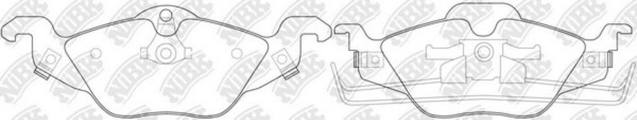 Передние тормозные колодки PN0189