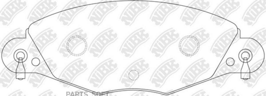 Передние тормозные колодки PN0184