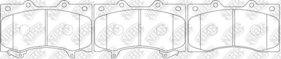 Передние тормозные колодки PN0555