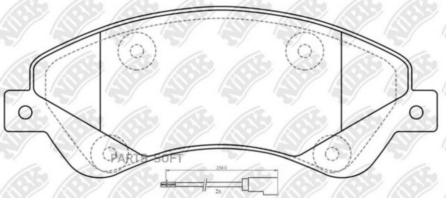 Передние тормозные колодки PN0505W