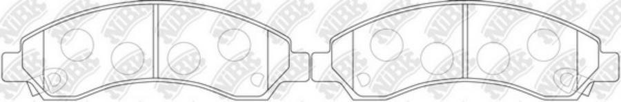 Передние тормозные колодки PN0502