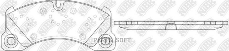 Передние тормозные колодки PN0529