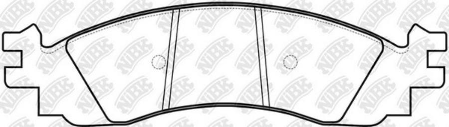 Передние тормозные колодки PN0605