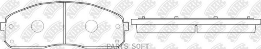 Передние тормозные колодки PN0600