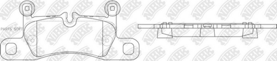Задние тормозные колодки PN0565