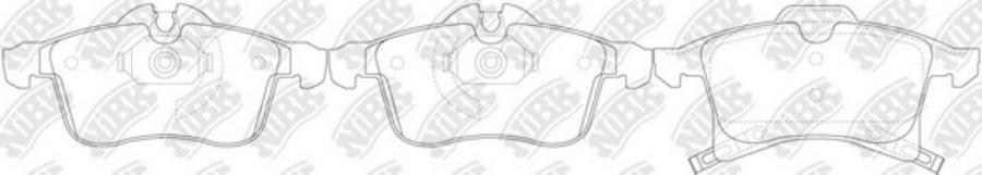 Передние тормозные колодки PN0355