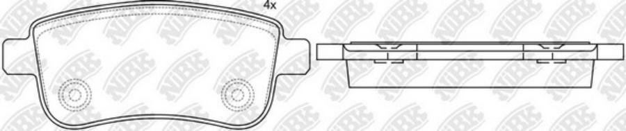 Задние тормозные колодки PN0381