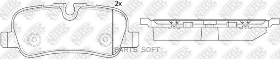 Задние тормозные колодки PN0485