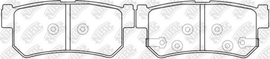 Задние тормозные колодки PN0440