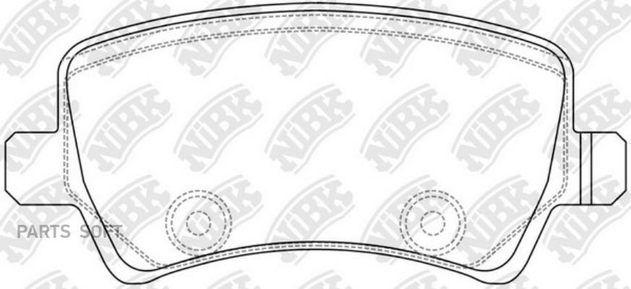 Задние тормозные колодки PN0463