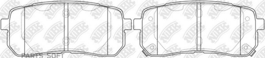 Задние тормозные колодки PN0457