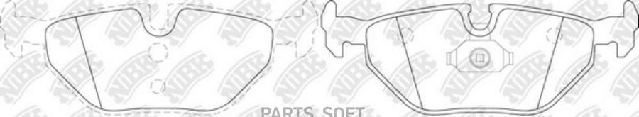 Задние тормозные колодки PN0014