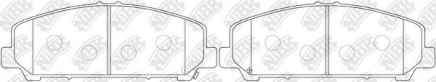 Передние тормозные колодки PN0841