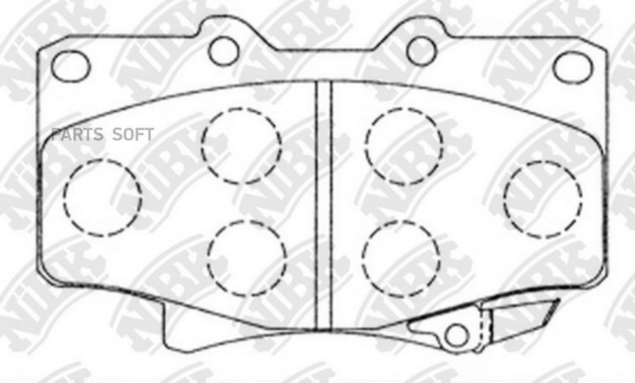 Передние тормозные колодки PN1242