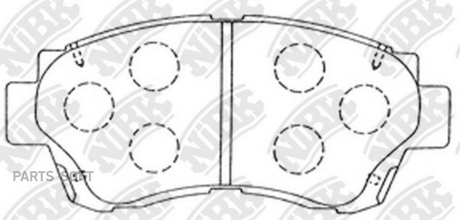 Передние тормозные колодки PN1228
