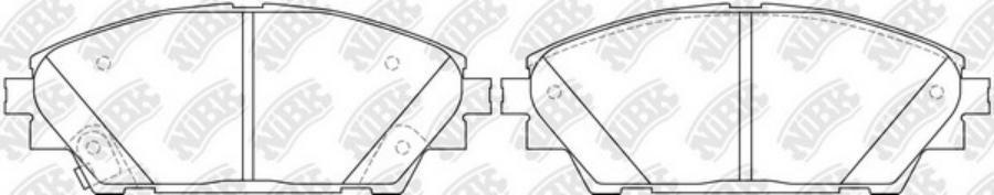 Передние тормозные колодки PN25005