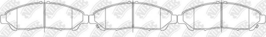 Передние тормозные колодки PN28001