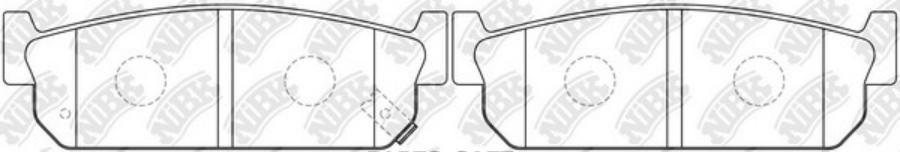 Задние тормозные колодки PN2262