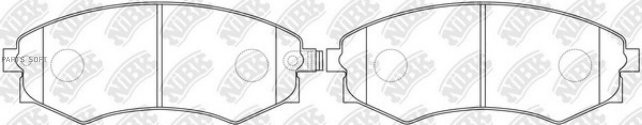 Передние тормозные колодки PN2245