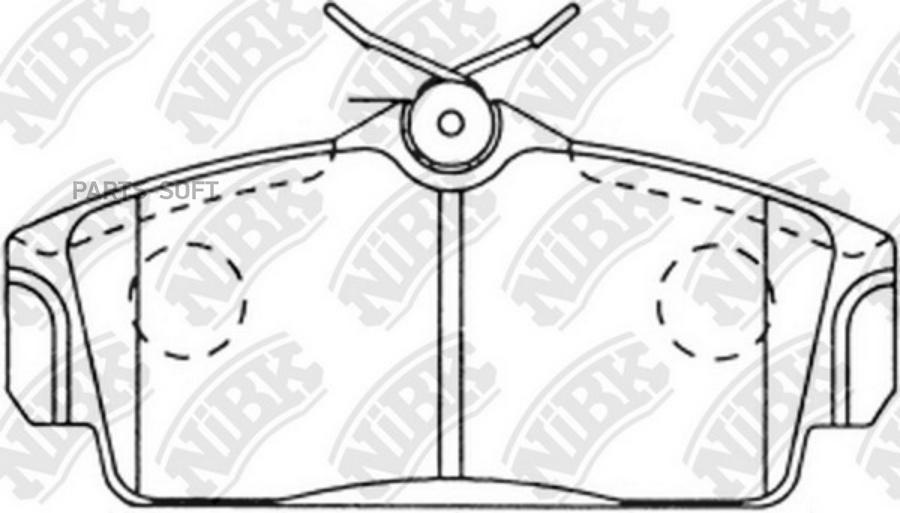 Передние тормозные колодки PN2230