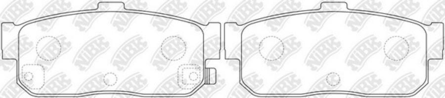 Задние тормозные колодки PN2224