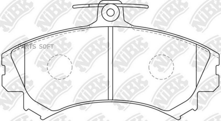 Передние тормозные колодки PN3090