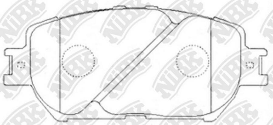 Передние тормозные колодки PN1479