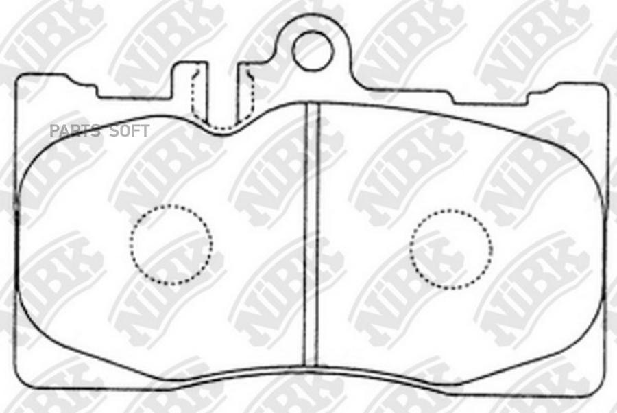 Передние тормозные колодки PN1455