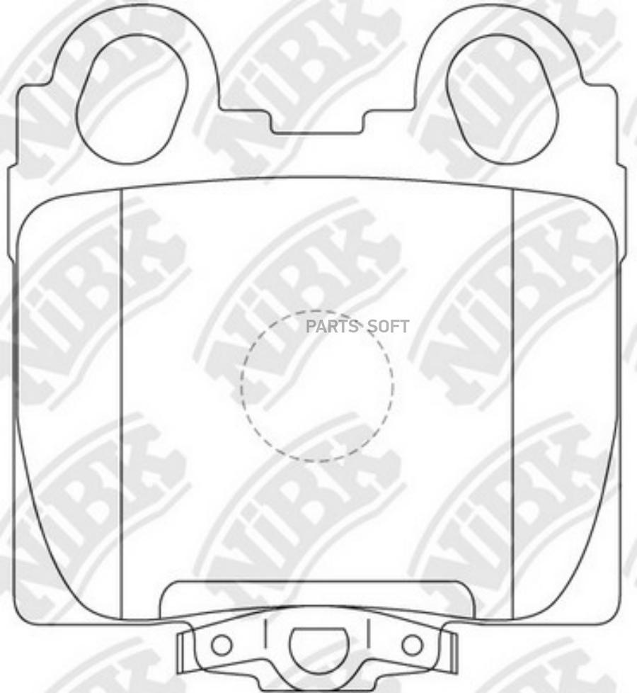 Задние тормозные колодки PN1421