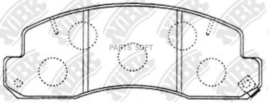 Передние тормозные колодки PN1388